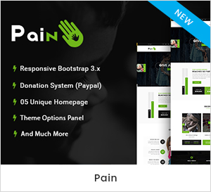 Pain - Charity & Fundraise Non-profit WordPress Theme