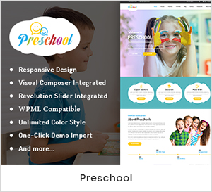 Pré-escolar - Nurseries Kindergarten and School WordPress Theme