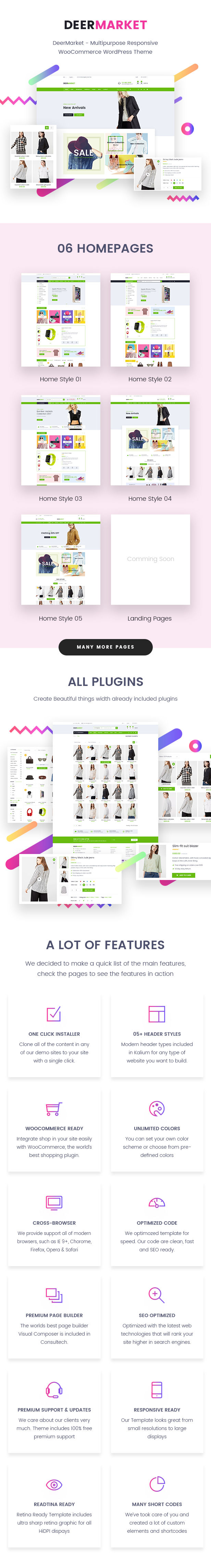 DeerMarket - Multipurpose Responsive WooCommerce WordPress Theme