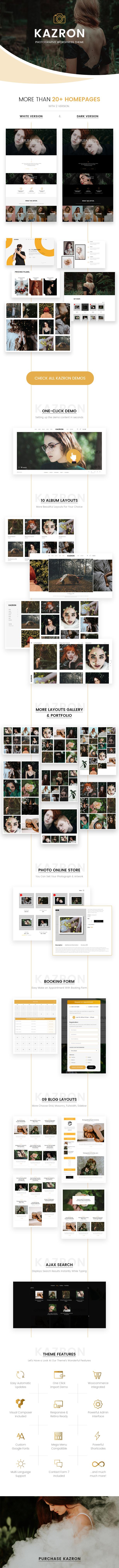 Kazron – Photography WordPress Theme (Photography) description kazron