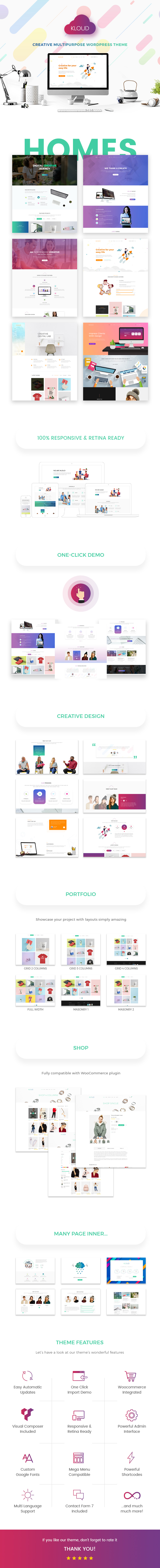 Kloud - Creative Multipurpose WordPress Theme