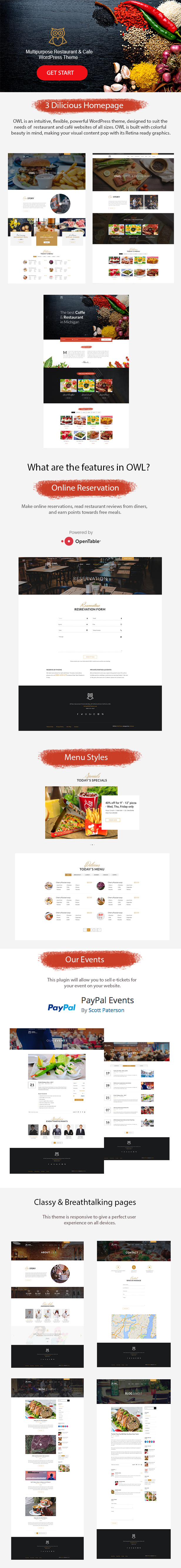 OWL- Restaurant WordPress Theme