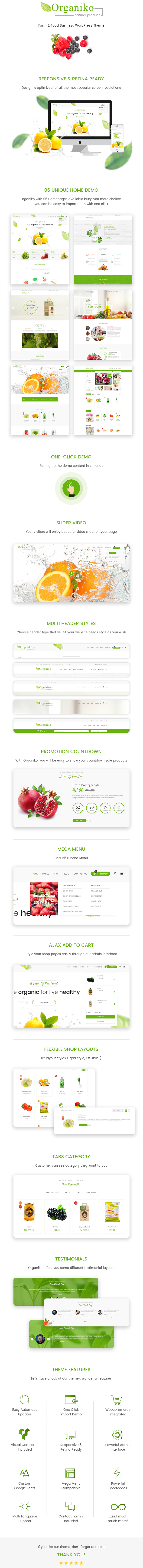 Farm & Food Business WordPress Theme