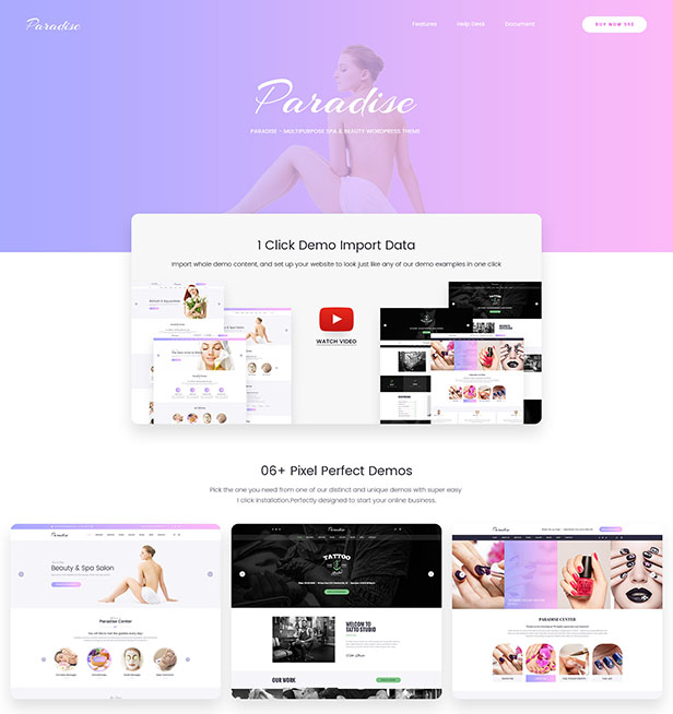 Paradise - Multipurpose Spa & Beauty WordPress Theme - 9
