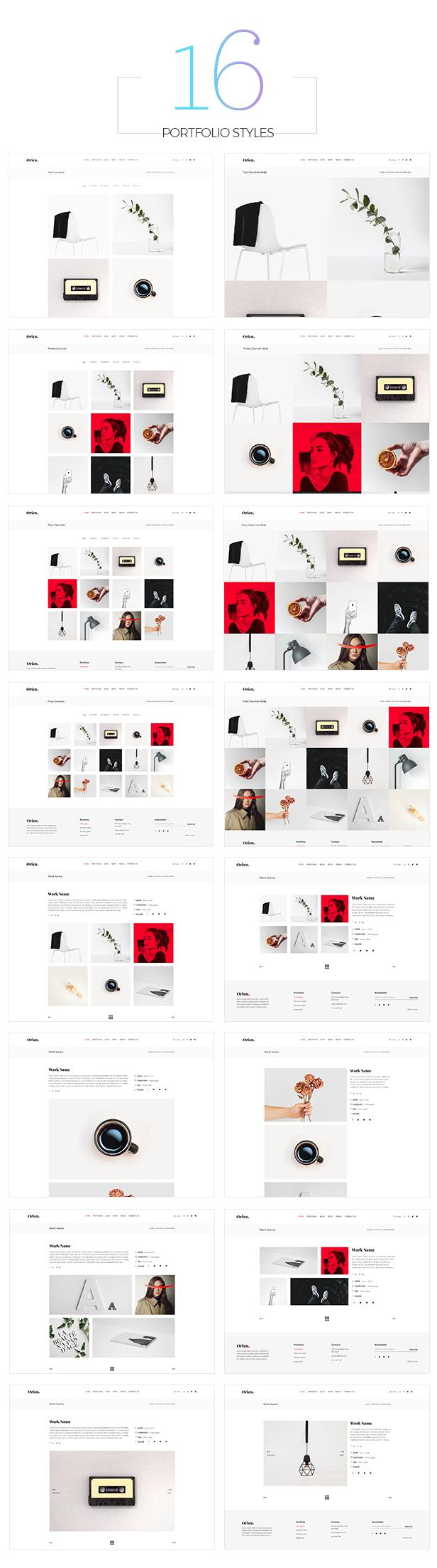 Orien - Creative Portfolio WordPress Theme - 7
