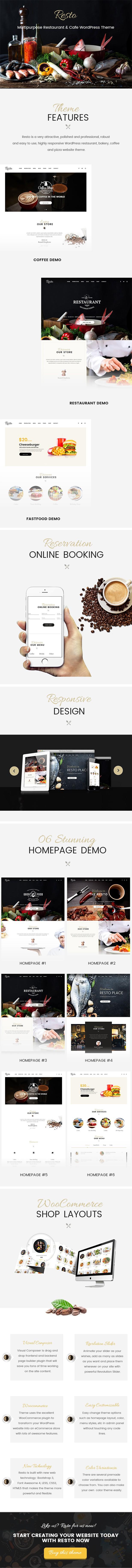 Multipurpose Restaurant & Cafe WordPress Theme